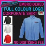X5 COMPANY LONG SLEEVED POCKET SHIRT EMBROIDERED FULL COLOUR  DIGITISED LOGO